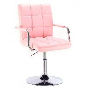 Židle VERONA na kulaté podstavě růžová