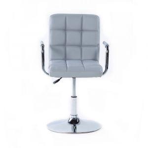 Židle VERONA na kulaté podstavě - šedá