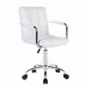 Židle VERONA na podstavě s kolečky bílá
