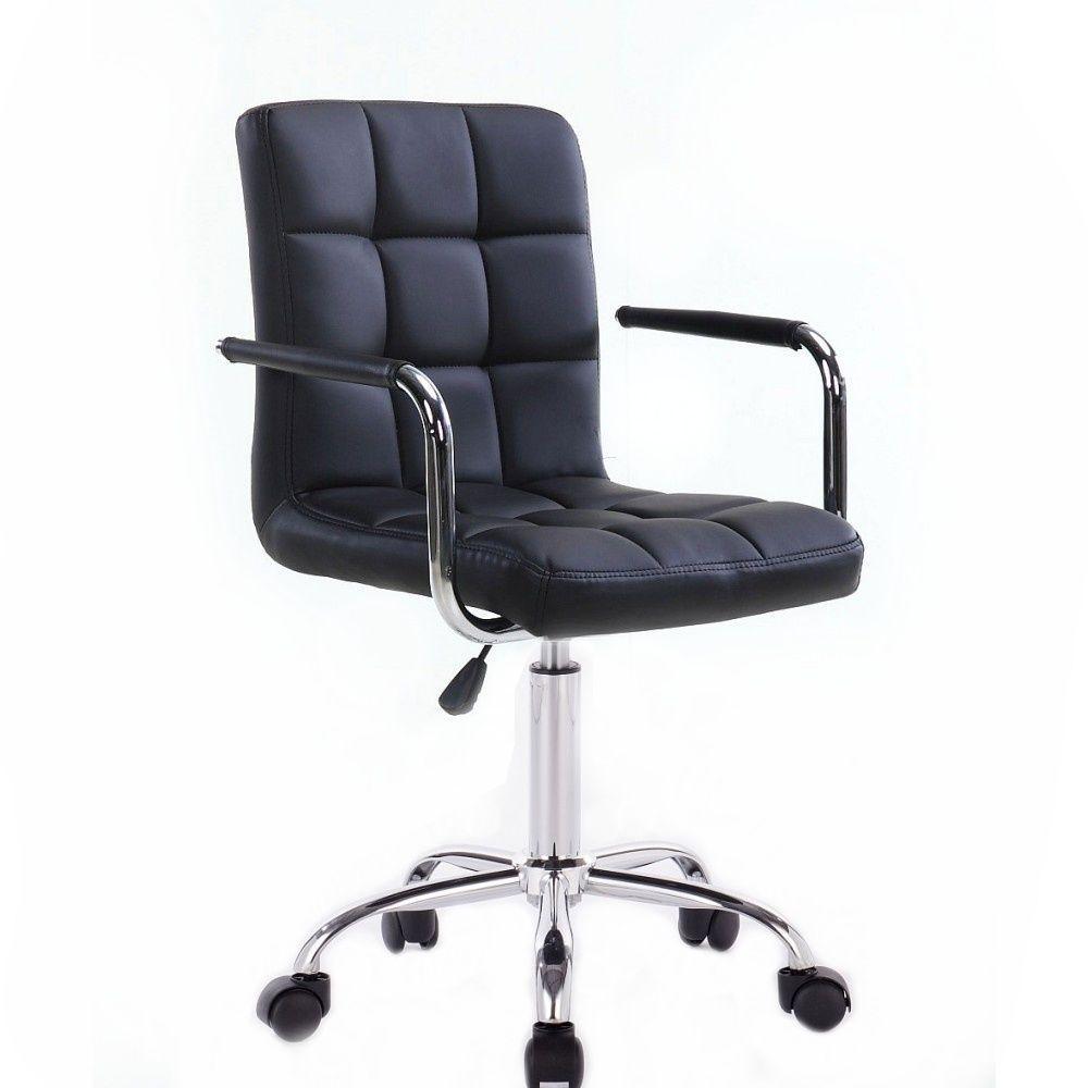 Židle VERONA na podstavě s kolečky černá
