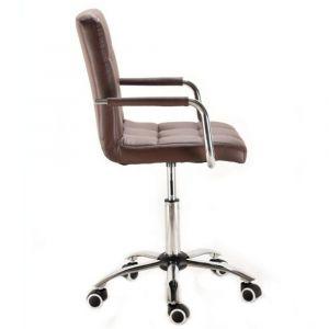 Židle VERONA na podstavě s kolečky hnědá