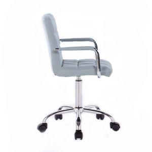 Židle VERONA na podstavě s kolečky - šedá