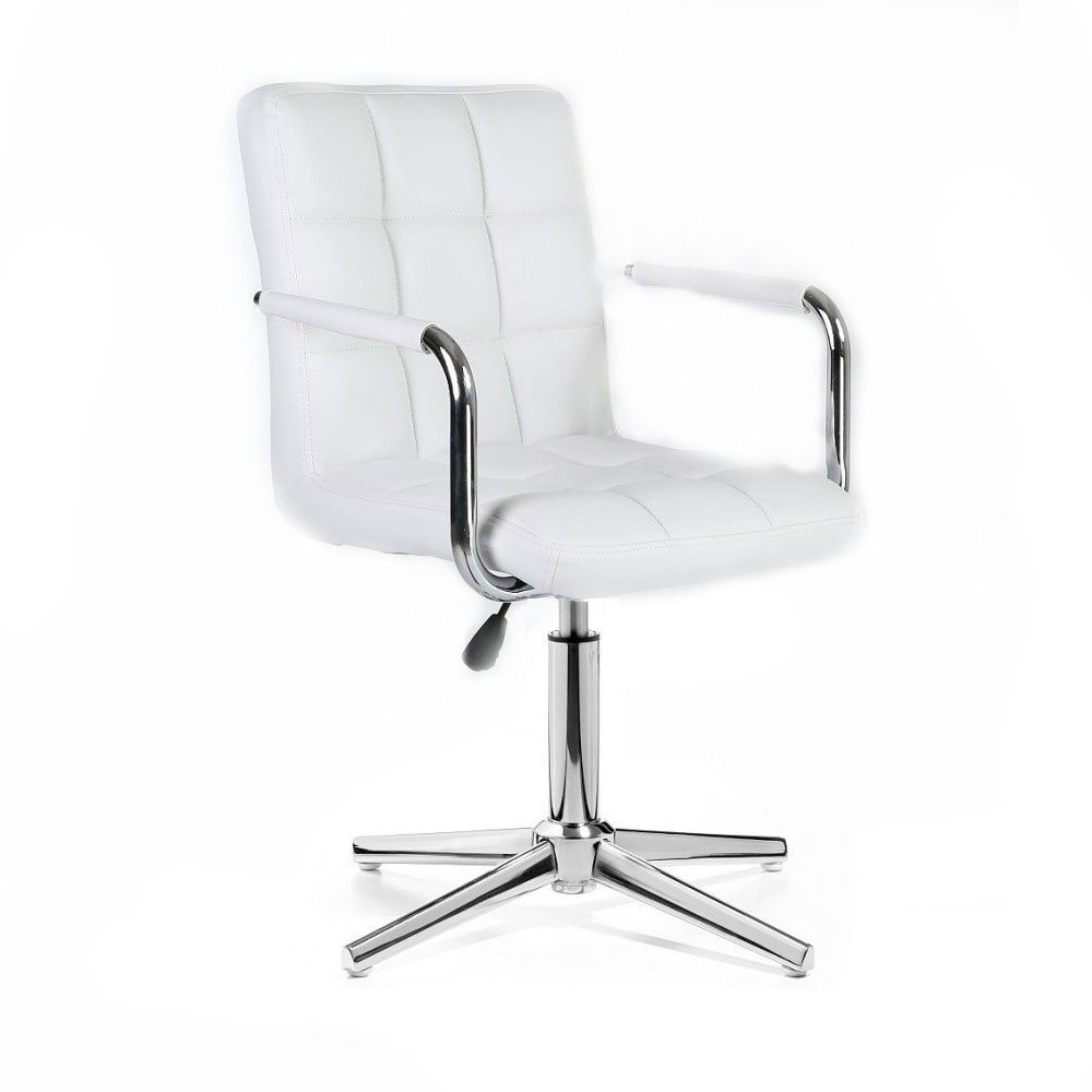 Židle VERONA na stříbrném kříži - bílá