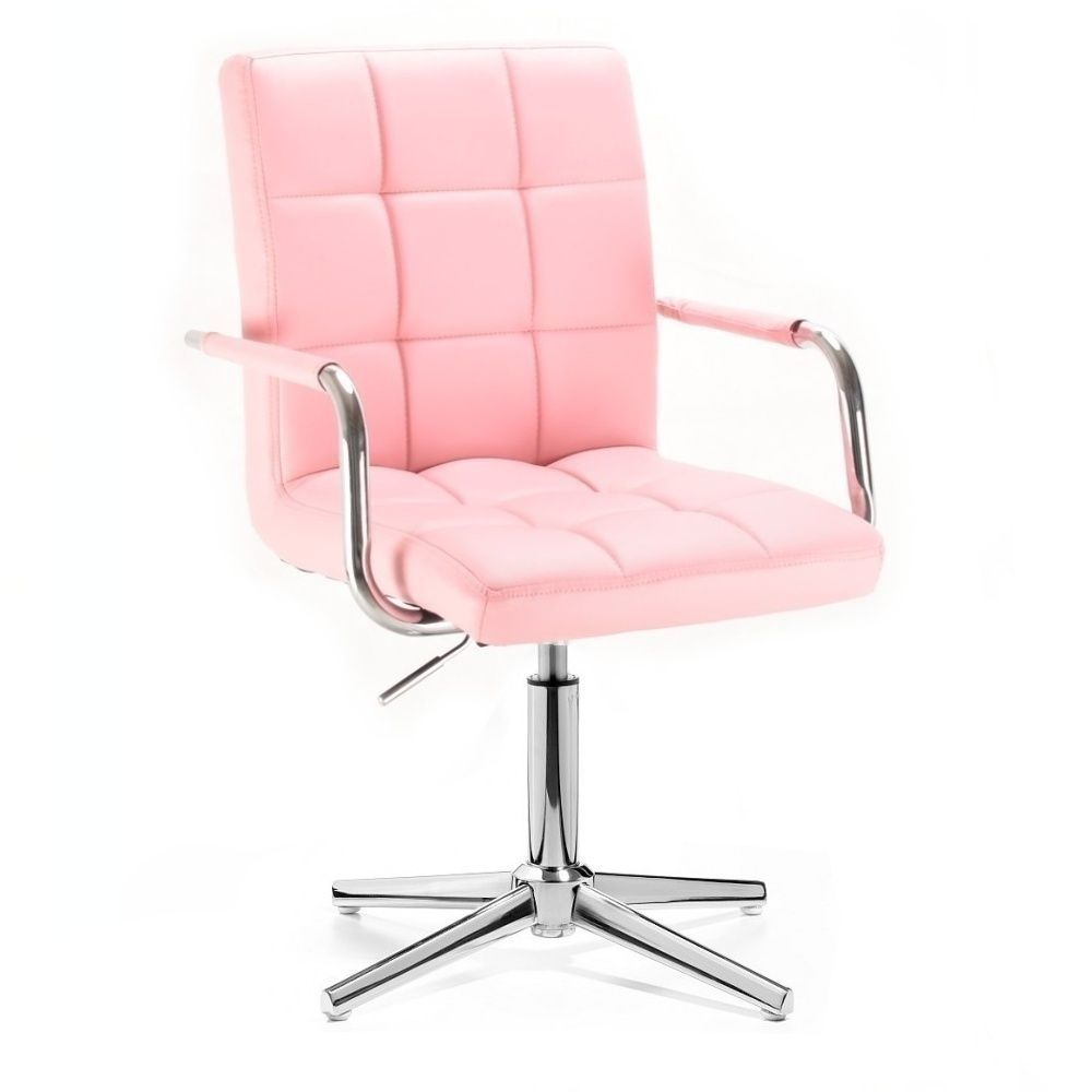Židle VERONA na stříbrném kříži - růžová