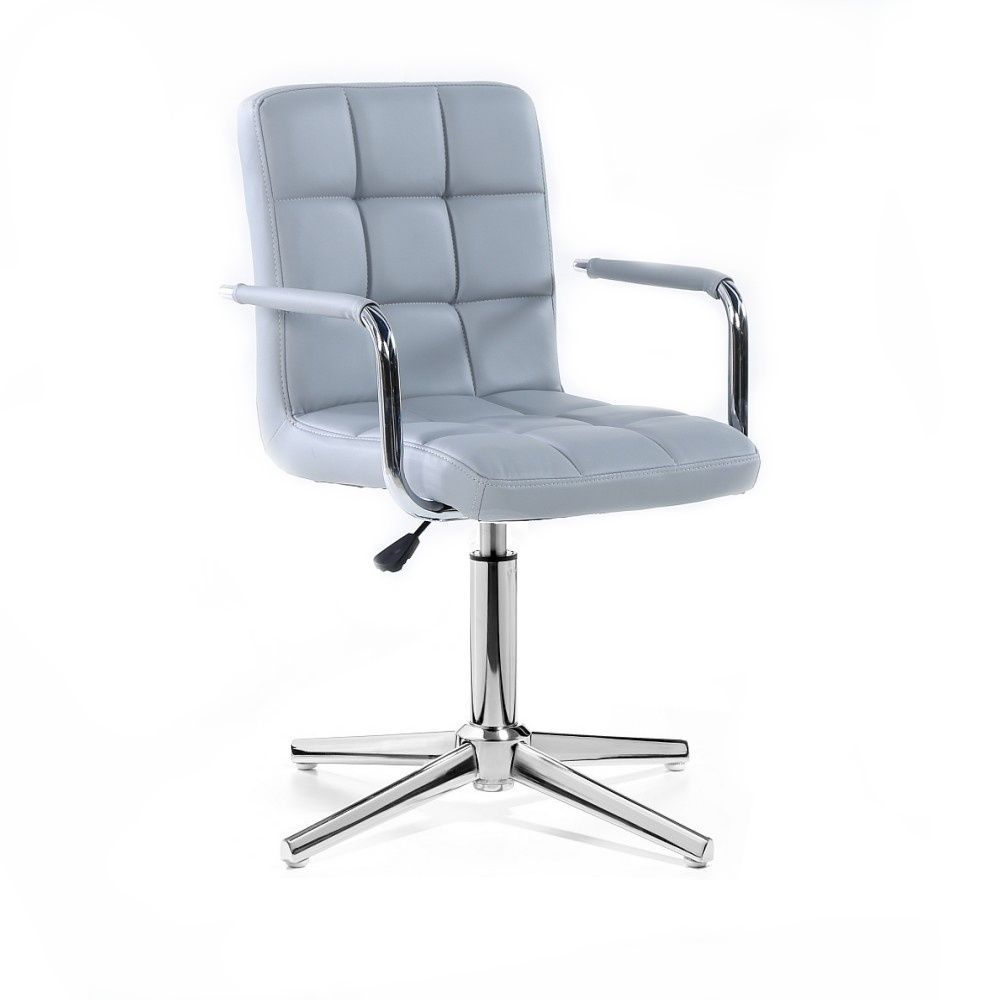 Židle VERONA na stříbrném kříži - šedá