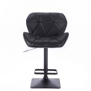 Barová židle MILANO na černé podstavě - černá