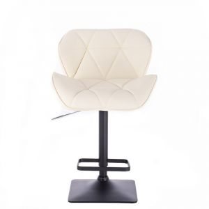 Barová židle MILANO na černé podstavě - krémová