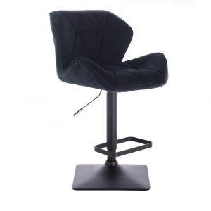 Barová židle MILANO VELUR na černé podstavě - černá