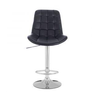 Barová židle PARIS na stříbrném talíři - černá