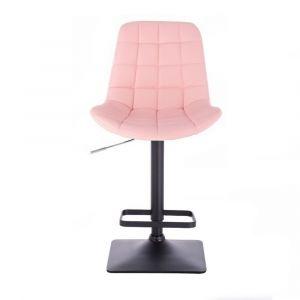 Barová židle PARIS na černé podstavě - růžová