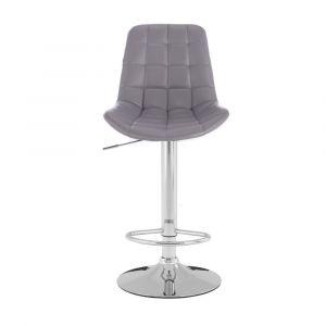 Barová židle PARIS na stříbrném talíři - šedá