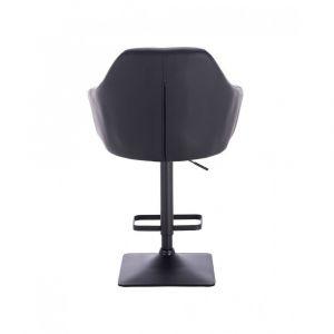 Barová židle ROMA na černé podstavě - černá