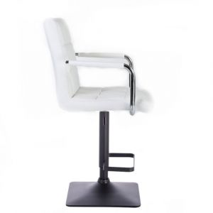 Barová židle VERONA na černé podstavě - bílá